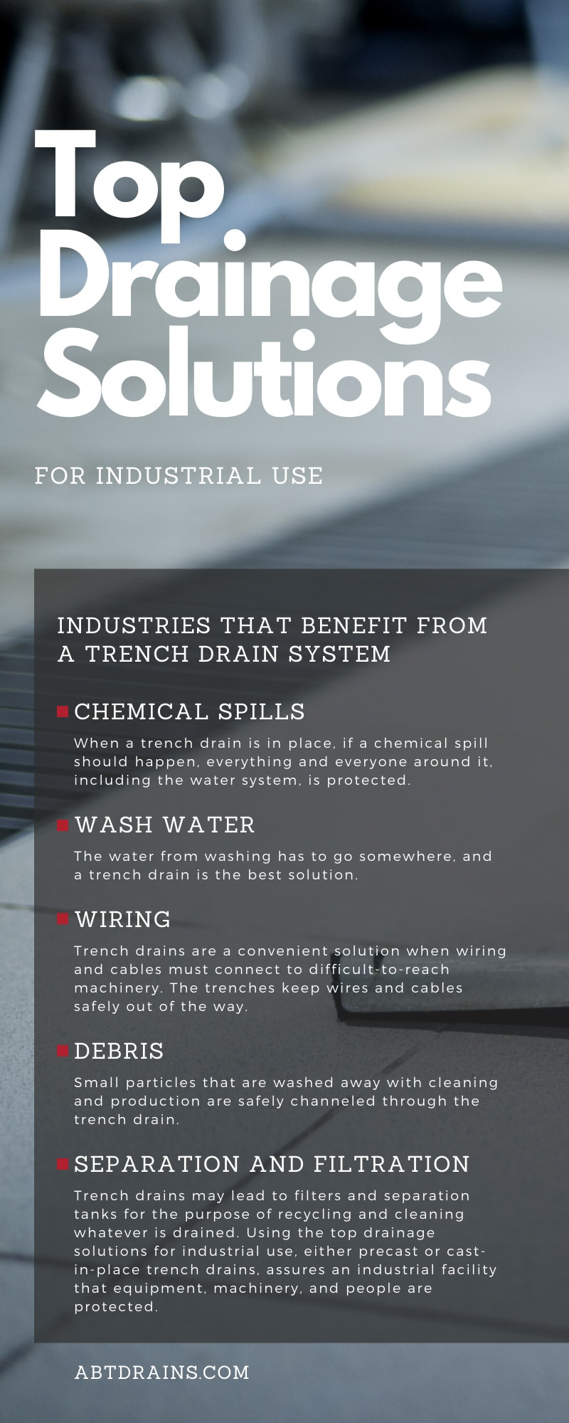 Top Drainage Solutions for Industrial Use